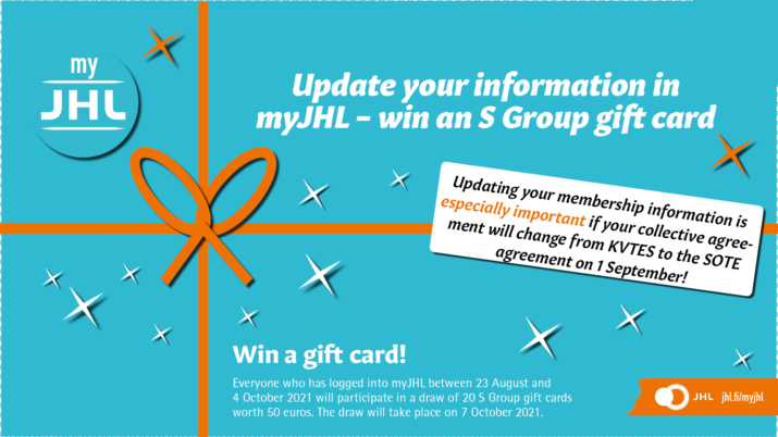 Update your membership information and participate in a draw!